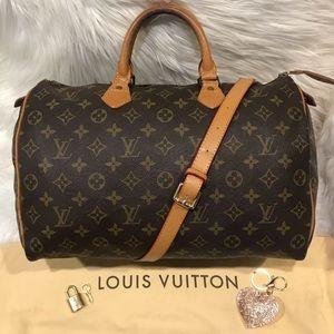 Authentic Louis Vuitton Speedy 35 Tote #3.8K